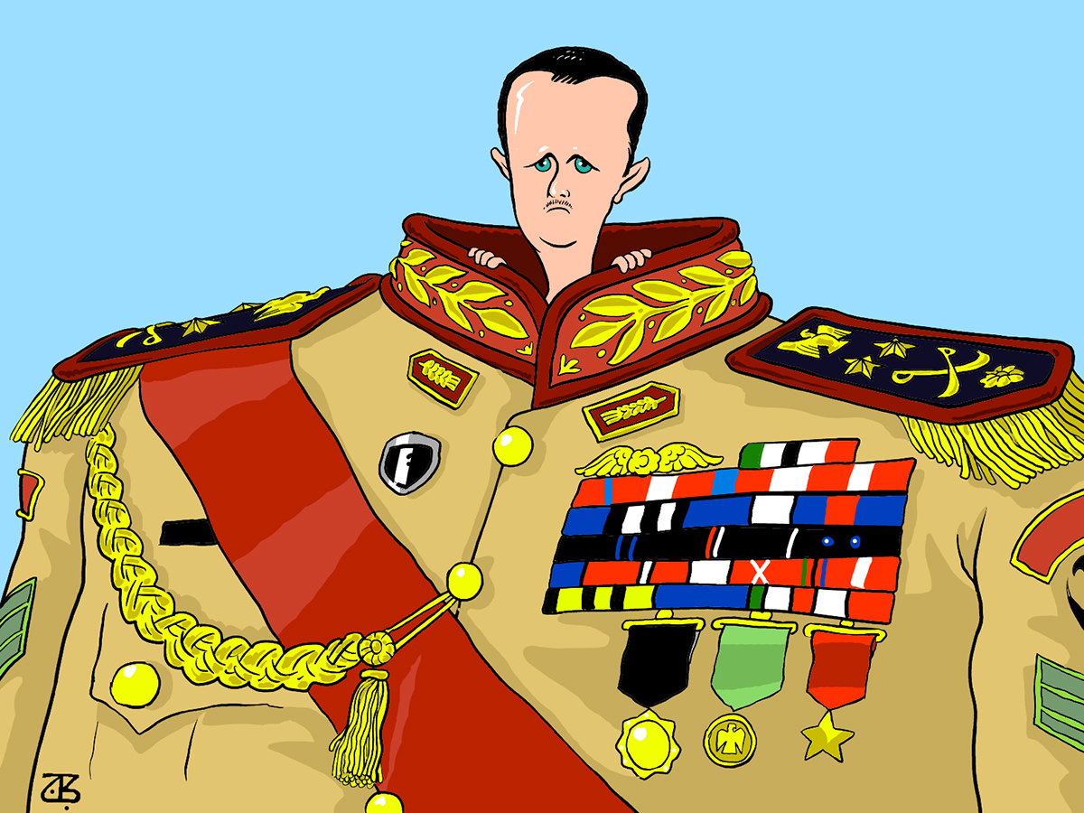 bashar asad assad military head badleh syria leaders medals 00-06-13
