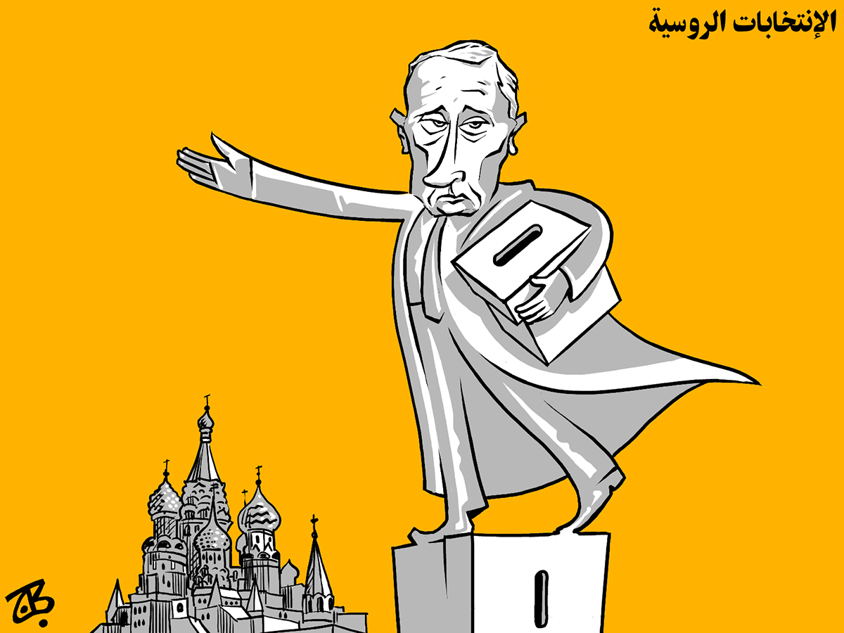 russian elections putin ballot box moscow red square dictator statue 04-03-15