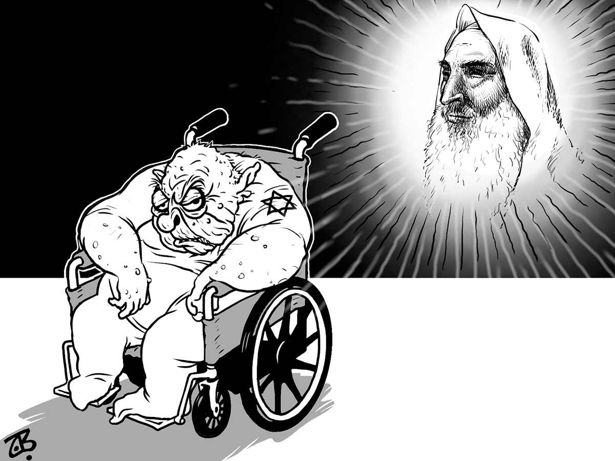 shiekh ahmad yassin yaseen assasination sharon handicapped palestine hero light 7idad chair 04-03-23
