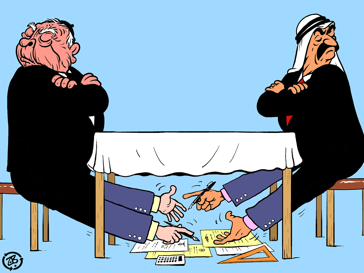 normalization table sharon arab negociation legs disagreement calculate israel angry recycled 05-04-07