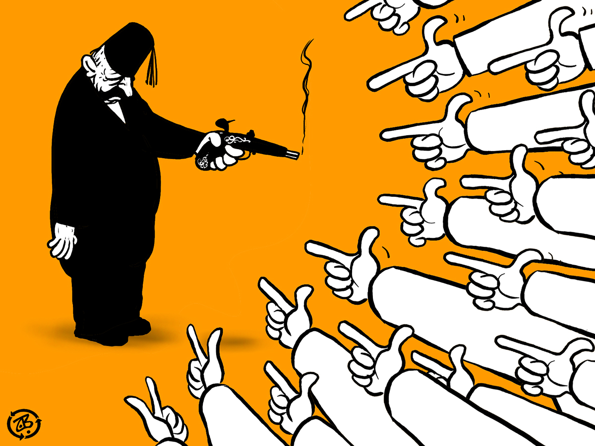 finger pointing lebanon syria gun surrender truth hands accused baath recycled 05-06-04