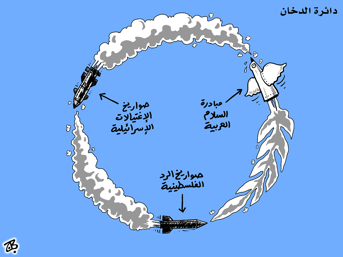 daerat dokhan smoke circle violence cycle sawareekh ightiyalat rad arab peace initiative rockets 07-04-25