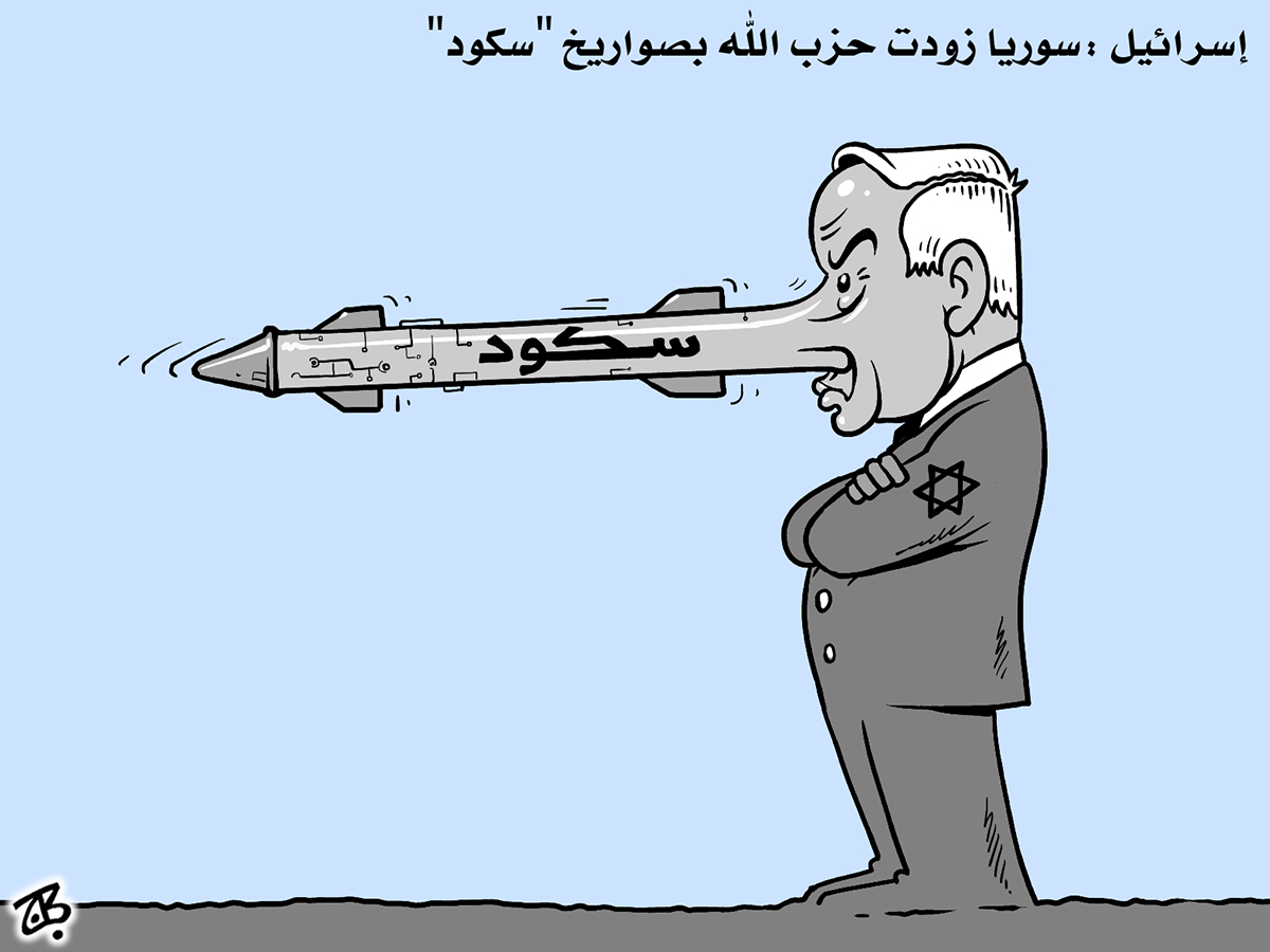nitinyaho israel syria skud missile hezbollah pinochio nose lie 10-04-28