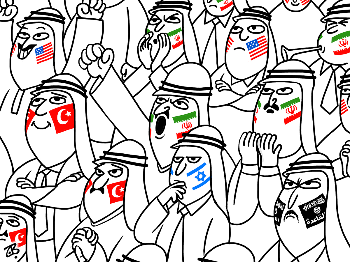 tashjee3 fans football world cup arabs face paint iran usa turkey israel alqaeda cheers 10-06-29