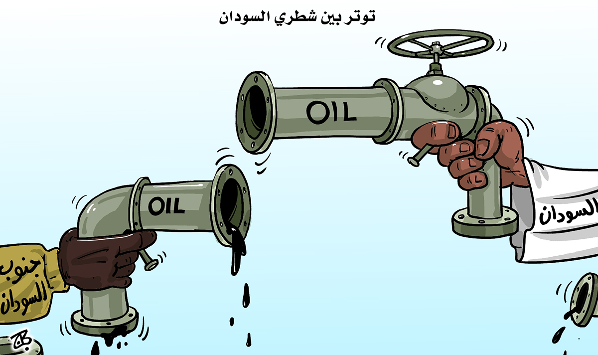 Sudan north south oil pipe war fight hands gun africa devided 12-04-11