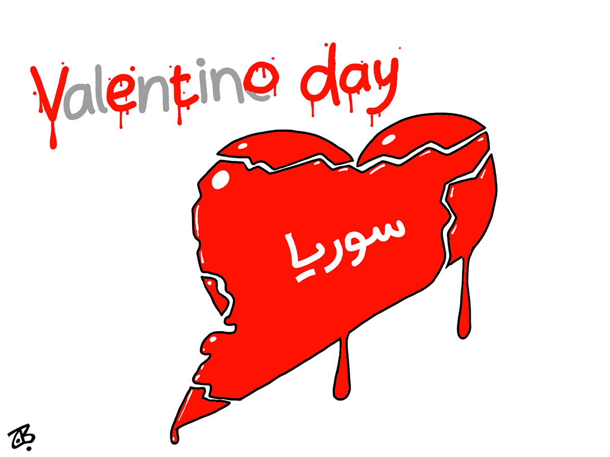 happy valentine day love veto syria hums bashar arab spring heart blood map 12-02-13