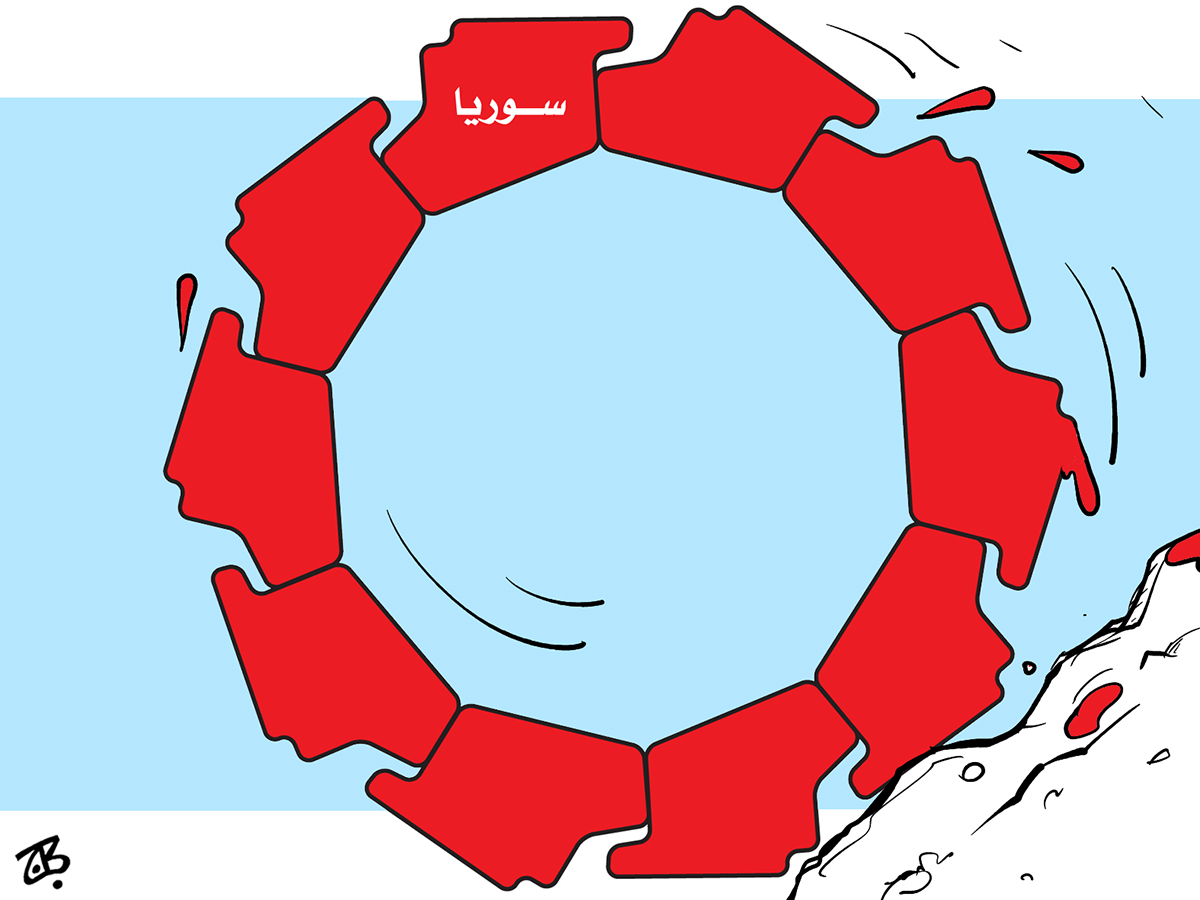 syria blood wheel cycle of violence civil war revolution drop cliff map arab spring 13-06-25