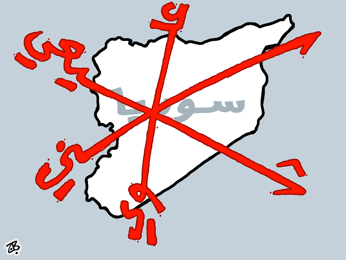 sectarian violence sunni shiite alawi divided nation syria red x mark map home islam  13-05-05