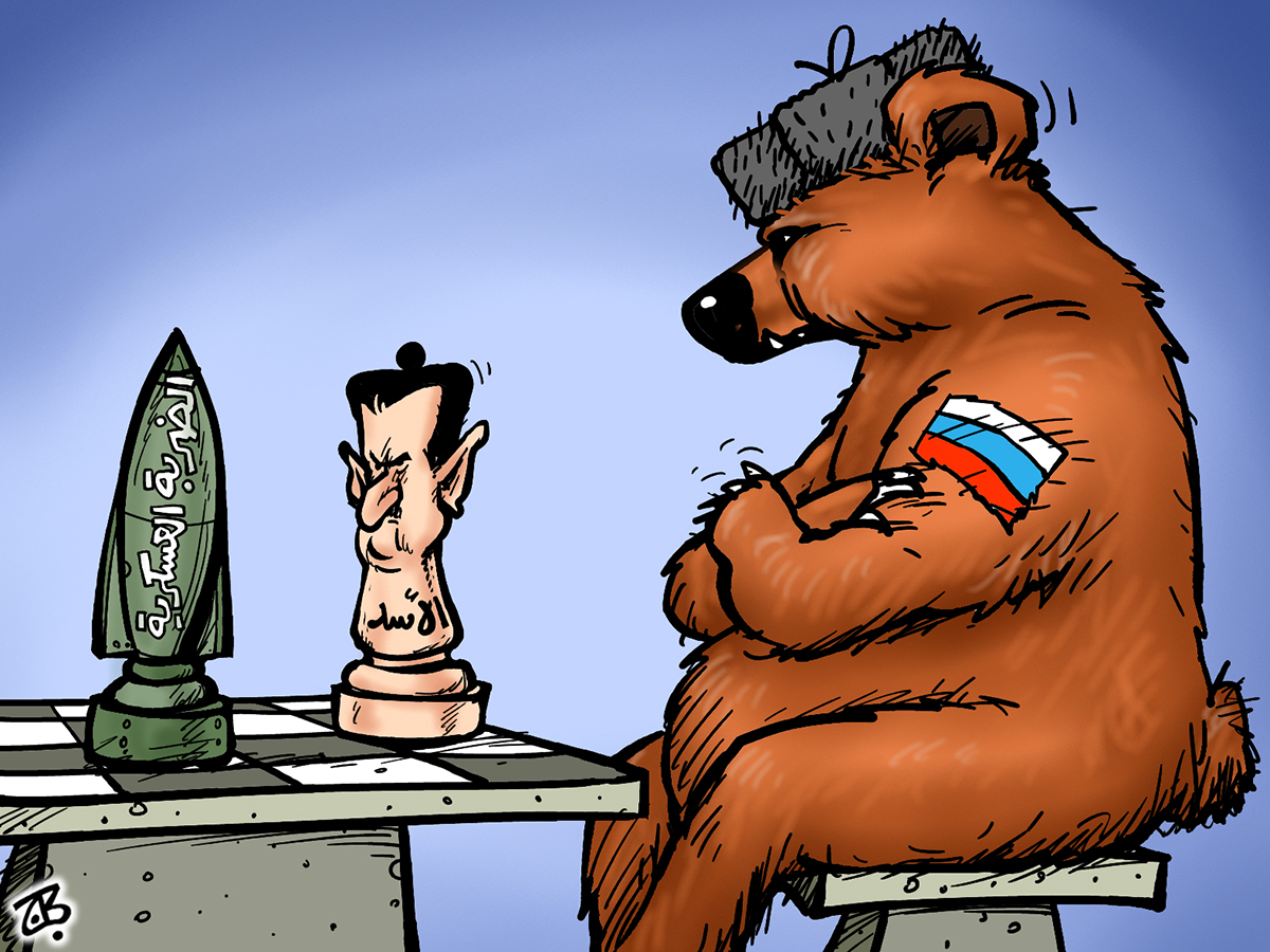 syria asad russia bear chess strike usa play rocket 13-09-12