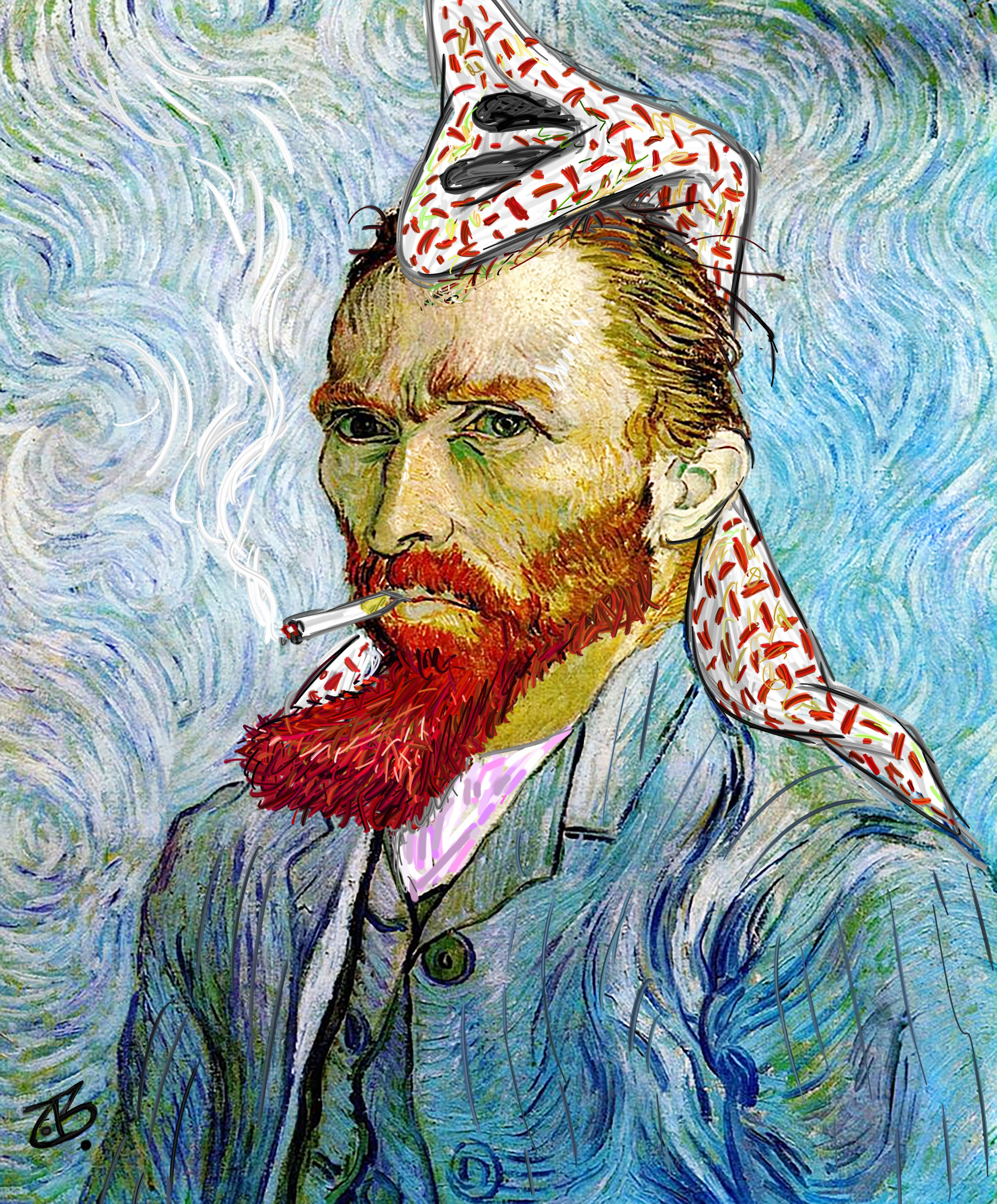 van gogh abu mahjoob art face portrait jordan holland culture 15-03-26